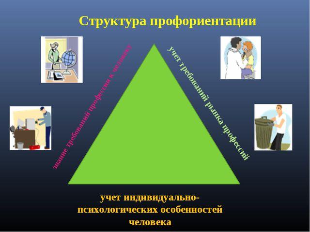 Структура профориентации учет индивидуально-психологических особенностей чело...