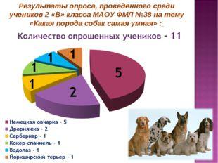 Результаты опроса, проведенного среди учеников 2 «В» класса МАОУ ФМЛ №38 на т