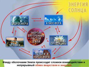 Между оболочками Земли происходит сложное взаимодействие и непрерывный обмен