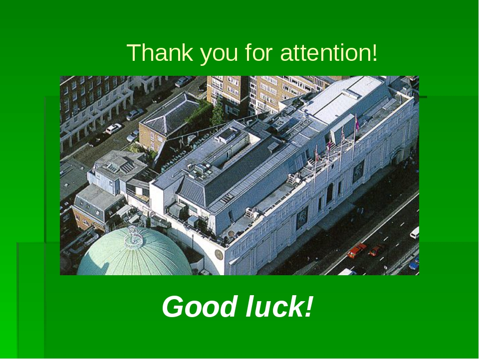 Thank you for attention! Good luck!