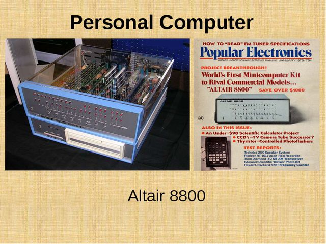 Altair 8800 Personal Computer