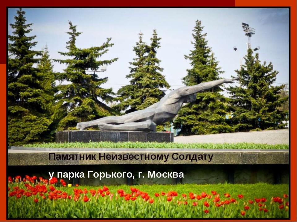 Памятник Неизвестному Солдату у парка Горького, г. Москва
