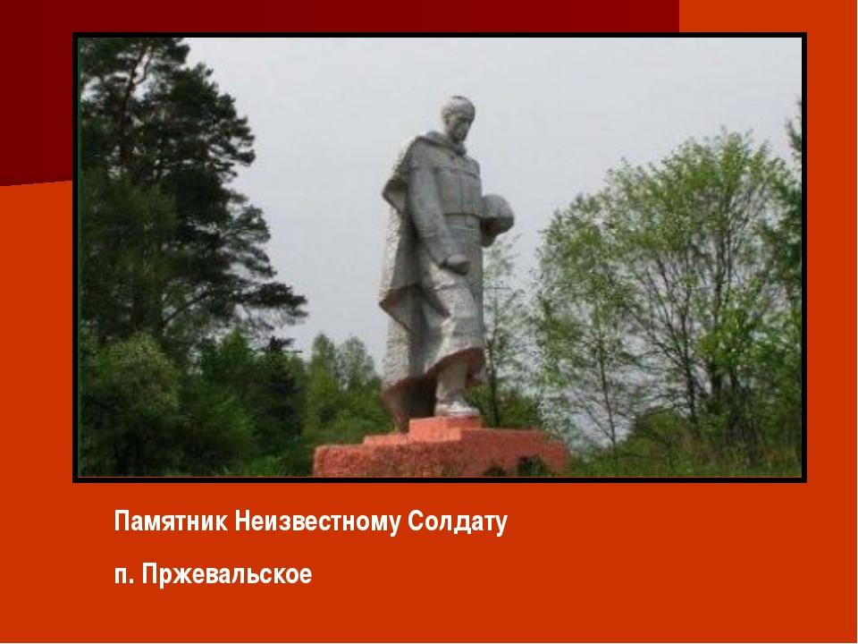 Памятник Неизвестному Солдату п. Пржевальское