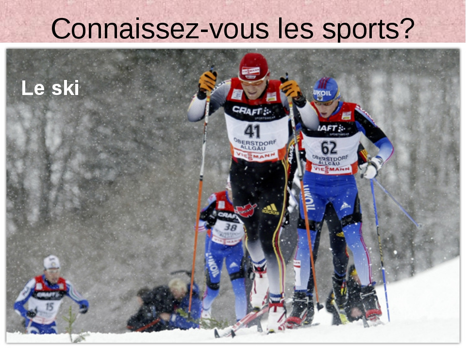 Connaissez-vous les sports? Le ski