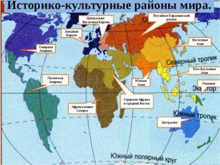 Историко-культурные районы мира. Западная Европа Северная Америка Латинская А