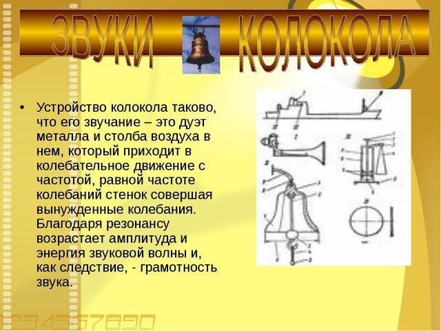 Устройство колокола таково, что его звучание – это дуэт металла и столба возд...