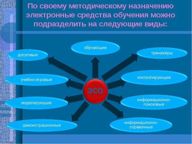 По своему методическому назначению электронные средства обучения можно подраз...