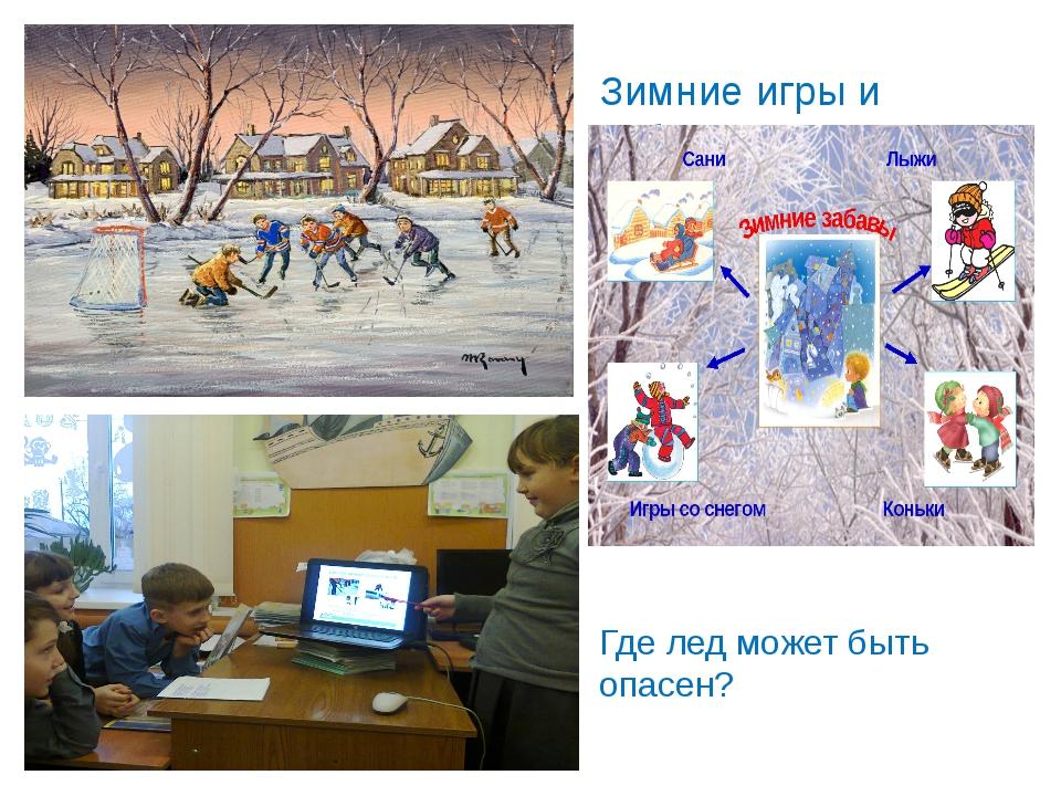 Зимние игры и забавы. Где лед может быть опасен?