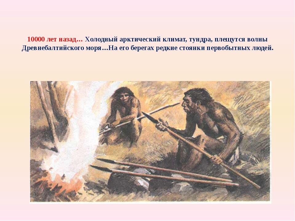 10000 лет назад… Холодный арктический климат, тундра, плещутся волны Древнеба...