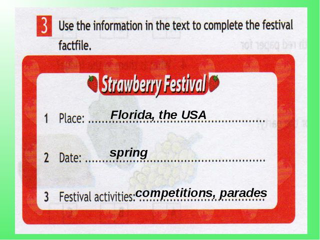 Florida, the USA spring competitions, parades