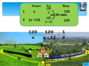 3 км/ч течение 27 км 42 км V(км/ч) t(ч) S(км) по прот. (х + 3) (х - 3) 27 42