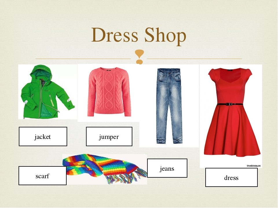 Dress Shop jacket jumper dress jeans scarf 