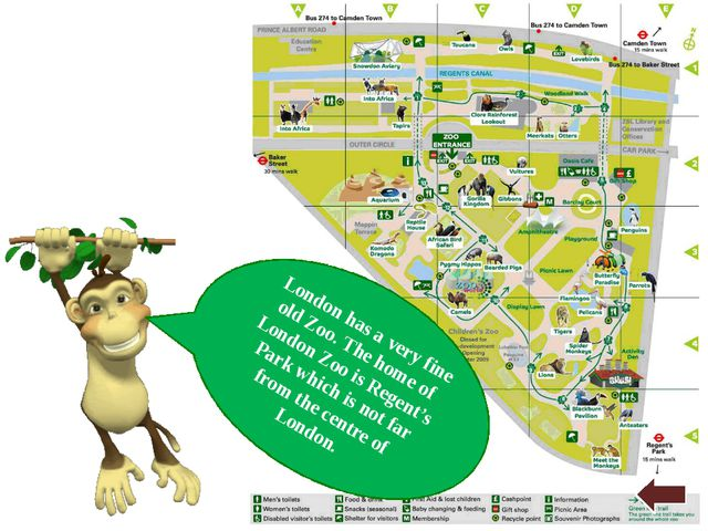 London has a very fine old Zoo. The home of London Zoo is Regent's Park which...