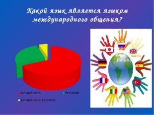Какой язык является языком международного общения?