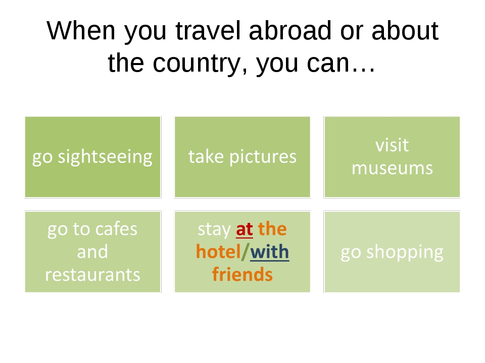 When you travel abroad or about the country, you can…