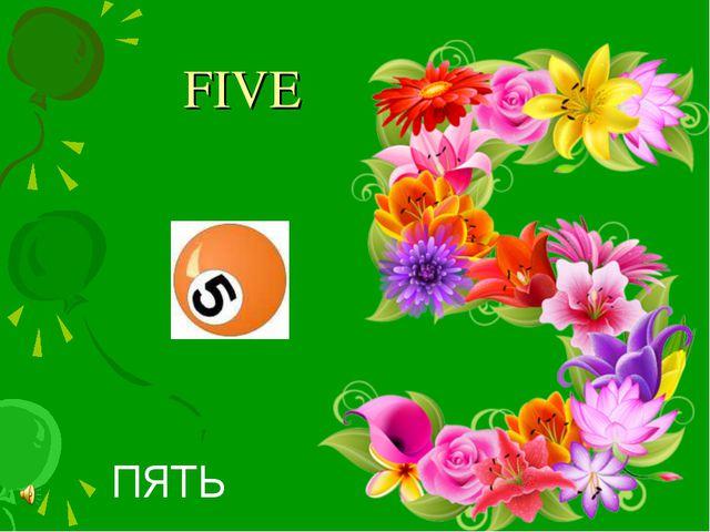 FIVE ПЯТЬ