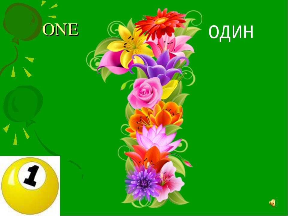 ONE ОДИН