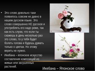 Это слово довольно таки появилось совсем не давно в нашем русском языке. Это