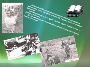 Во время войны поистине героически работали труженики деревни на полях и фер