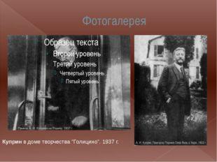 """Фотогалерея Куприн в доме творчества """"Голицино"""". 1937 г."""