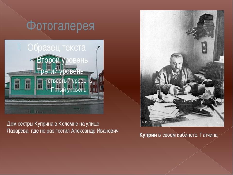 Фотогалерея Дом сестры Куприна в Коломне на улице Лазарева, где не раз гостил...