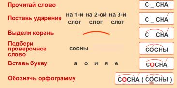 F:\3 класс\Русский язык\Безударная гласная открытый урок\Открытый урок мой Безударная гласная в корне\Алгоритм.PNG
