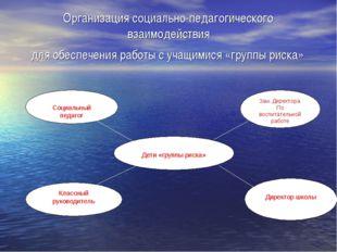 Организация социально-педагогического взаимодействия для обеспечения работы с