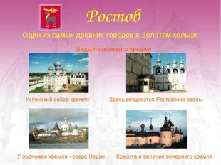 Ростов Один из самых древних городов в Золотом кольце Виды Ростовского Кремля