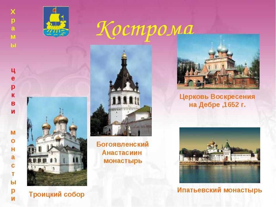 Кострома Ипатьевский монастырь Храмы церкви монастыри Церковь Воскресения на...