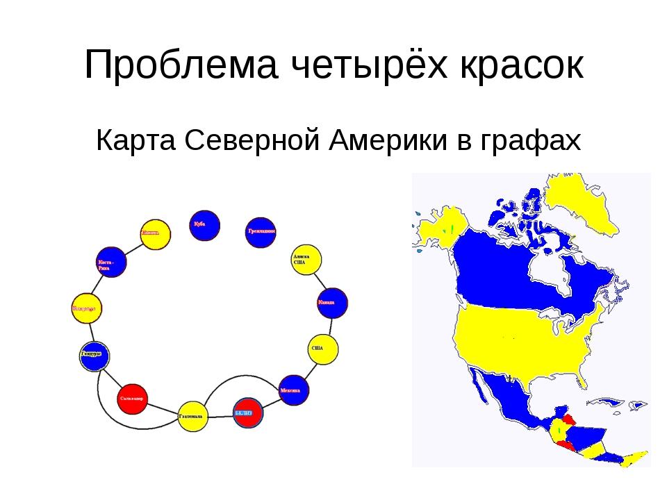 Проблема четырёх красок Карта Северной Америки в графах