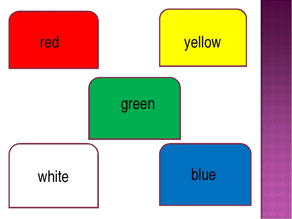 red yellow green white blue