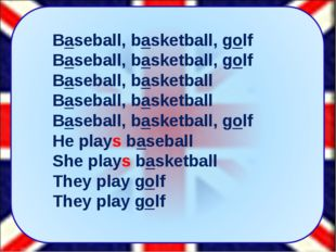 Baseball, basketball, golf Baseball, basketball, golf Baseball, basketball Ba