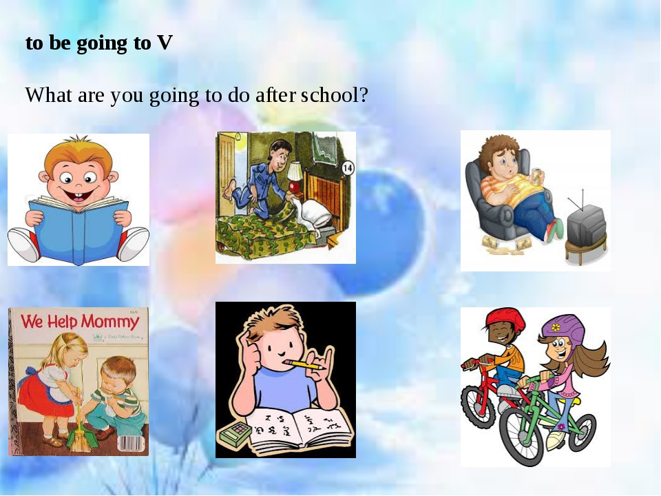 to be going to V What are you going to do after school?