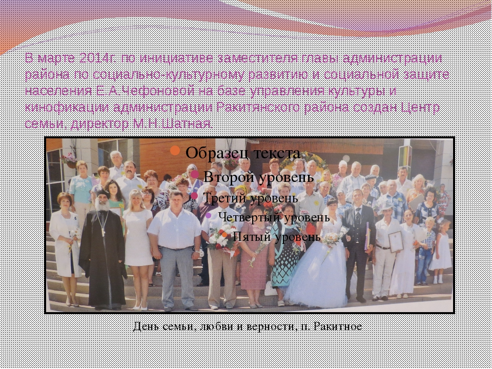 В марте 2014г. по инициативе заместителя главы администрации района по социал...