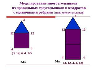 М21 М33 Моделирование многоугольников из правильных треугольников и квадратов