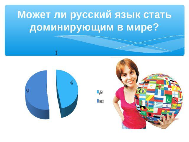 Может ли русский язык стать доминирующим в мире?