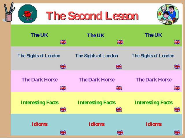The Second Lesson The UK The UK  The UK The Sights of London  The Sights...