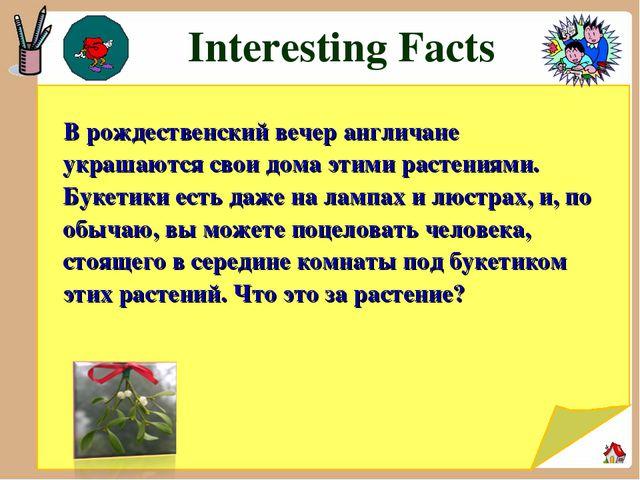 Interesting Facts В рождественский вечер англичане украшаются свои дома этим...