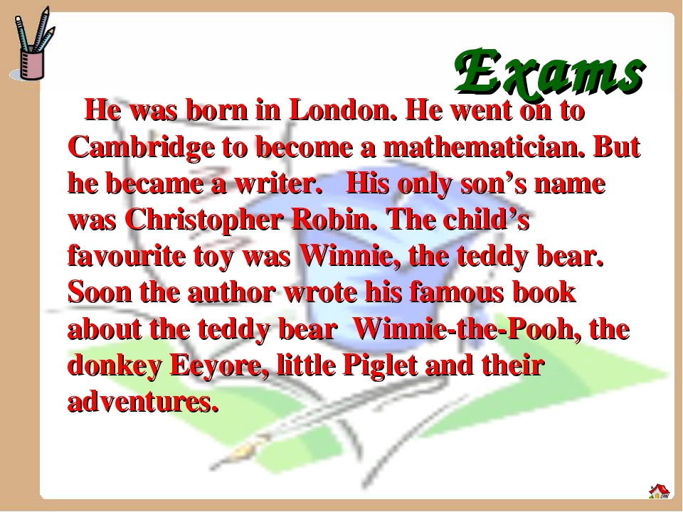 Exams He was born in London. He went on to Cambridge to become a mathematici...
