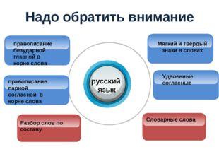 Надо обратить внимание русский язык Мягкий и твёрдый знаки в словах Словарные