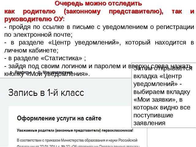 Затем открывается вкладка «Центр уведомлений» - выбираем вкладку «Мои заявки»...
