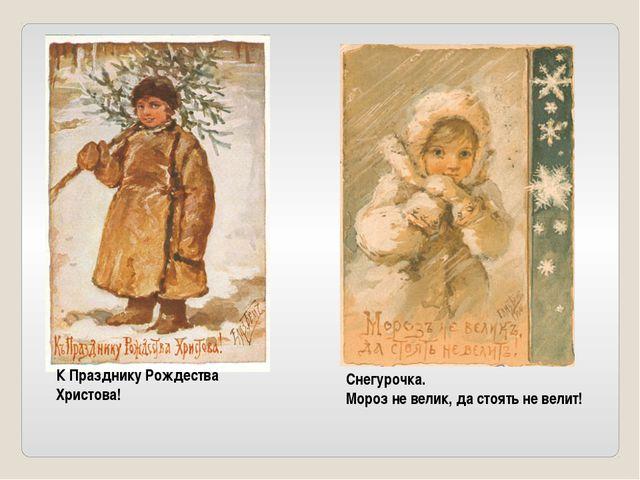 Снегурочка. Мороз не велик, да стоять не велит! К Празднику Рождества Христо...