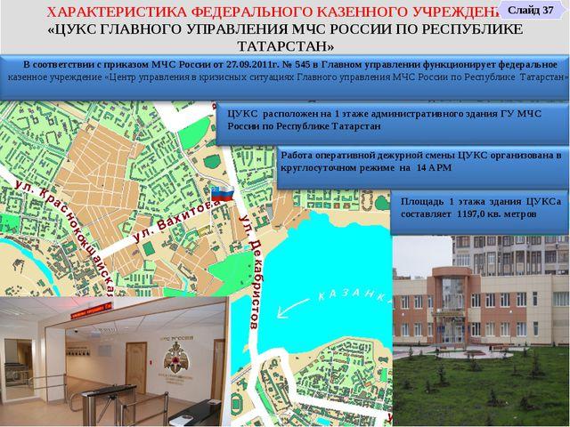 7 8 9 10 1 2 3 4 5 6 11 ЦУКС расположен на 1 этаже административного здания Г...
