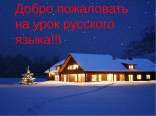 Добро пожаловать на урок русского языка!!!