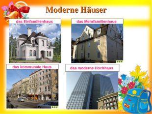 Moderne Häuser das moderne Hochhaus