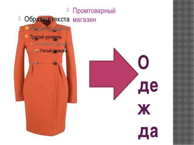 Одежда Промтоварный магазин