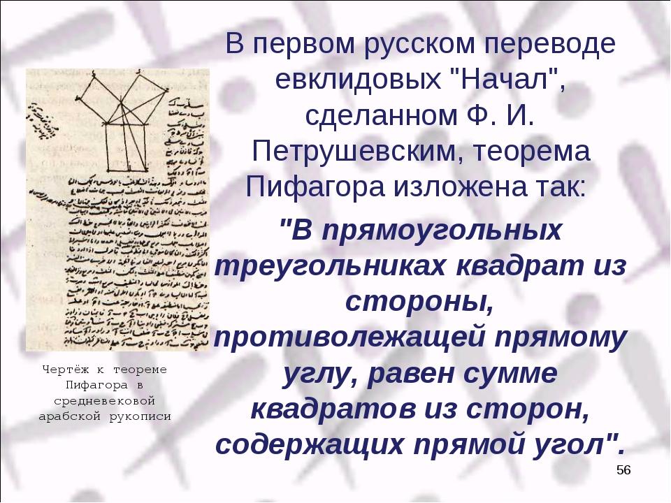 """В первом русском переводе евклидовых """"Начал"""", сделанном Ф. И. Петрушевским,..."""