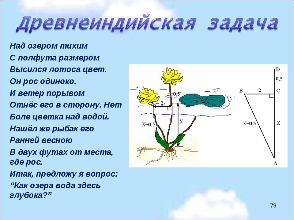 Над озером тихим С полфута размером Высился лотоса цвет. Он рос одиноко, И ве...