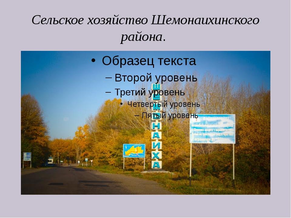 Сельское хозяйство Шемонаихинского района.