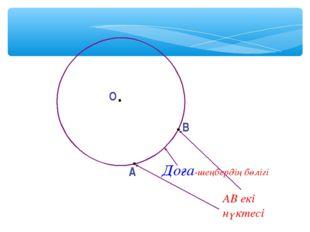 О A B Доға-шеңбердің бөлігі АВ екі нүктесі